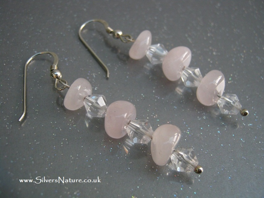 white earrings img victorian quartz flower